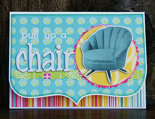 Amy Parker Pull Up A Chair card Delovely Cosmo Cricket