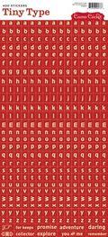 Red Tiny Type