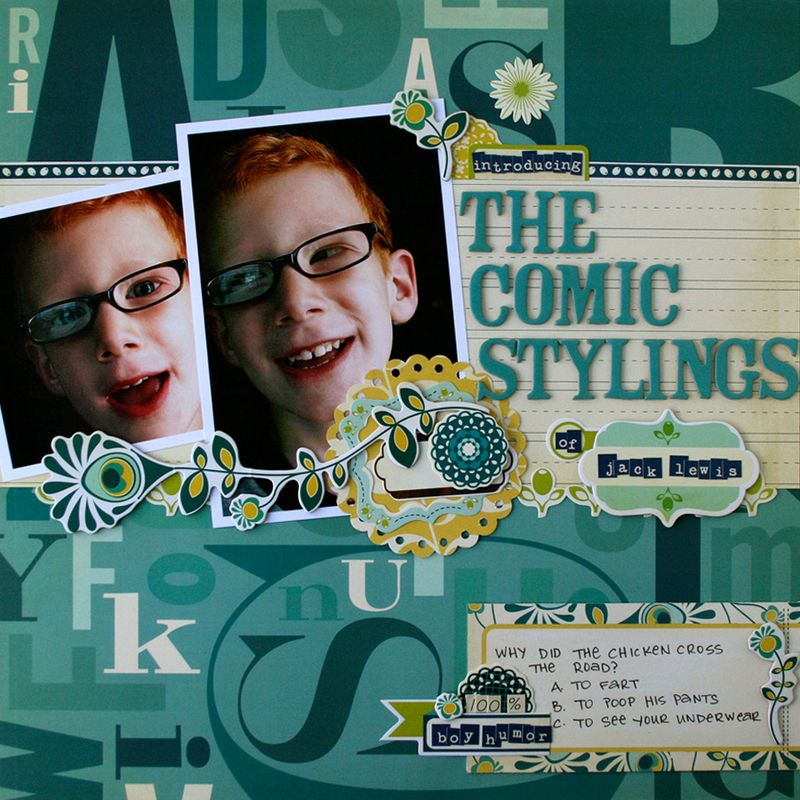 Social Club Boy scrapbook page