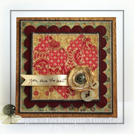Cosmo Cricket Discovered Artist Beate Johns Quilt Card