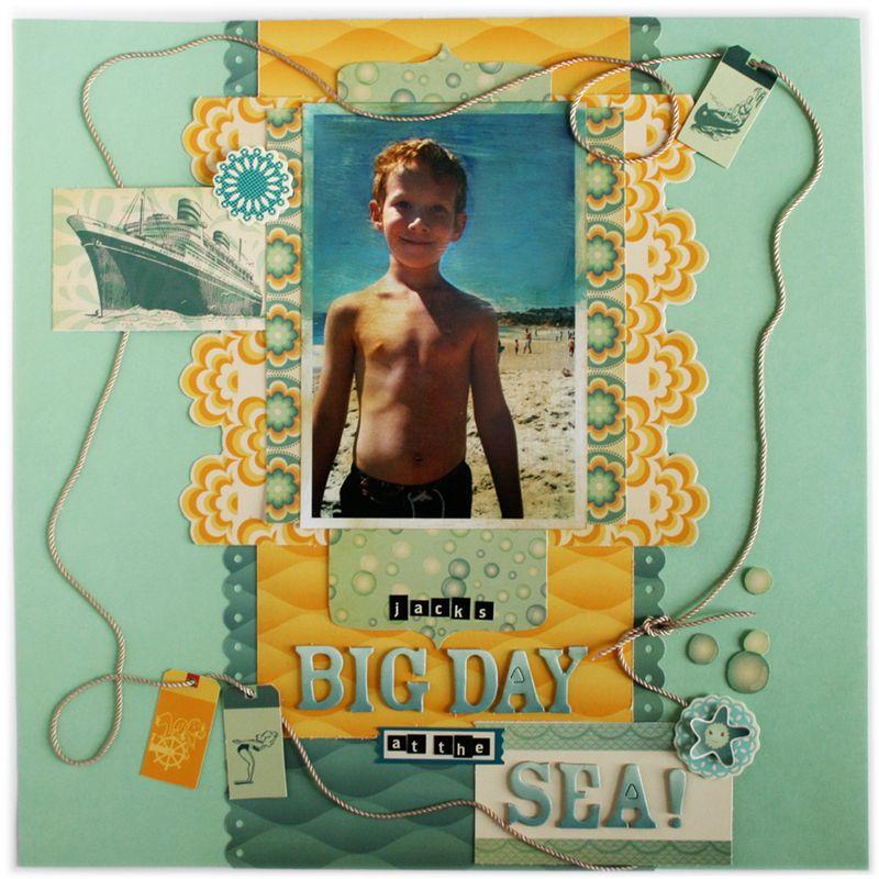 Salt Air Beach Scrapbook Layout