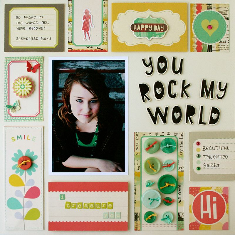 Upcycle teen scrapbook page