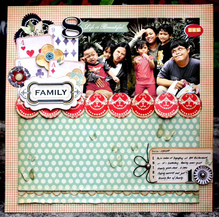Scrapbook family layout