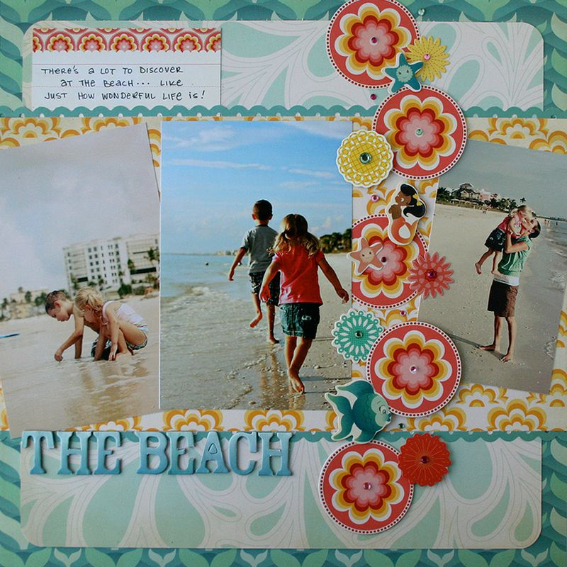 Salt air beach scrapbook page