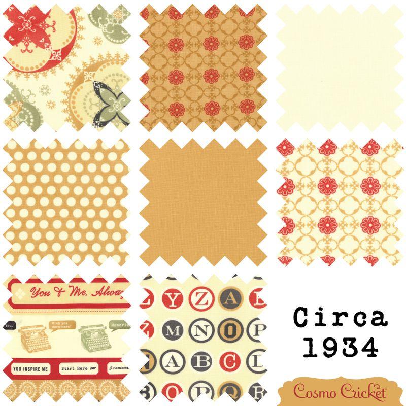Cosmo Cricket Circa 1934 vintage fabric moda Julie Comstock3