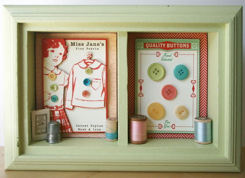 Home Decor project_clementine_paper craft_sewing room_cosmo cricket_scrapbook