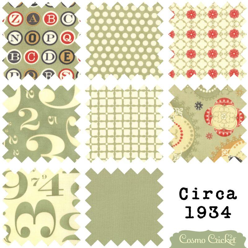 Cosmo Cricket Circa 1934 vintage fabric moda Julie Comstock4