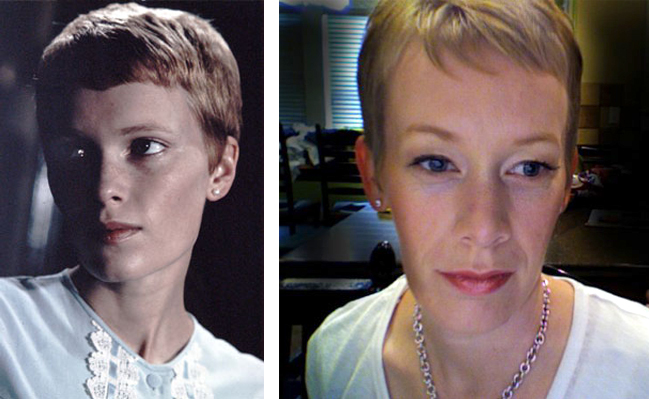 Mia Farrow look alike