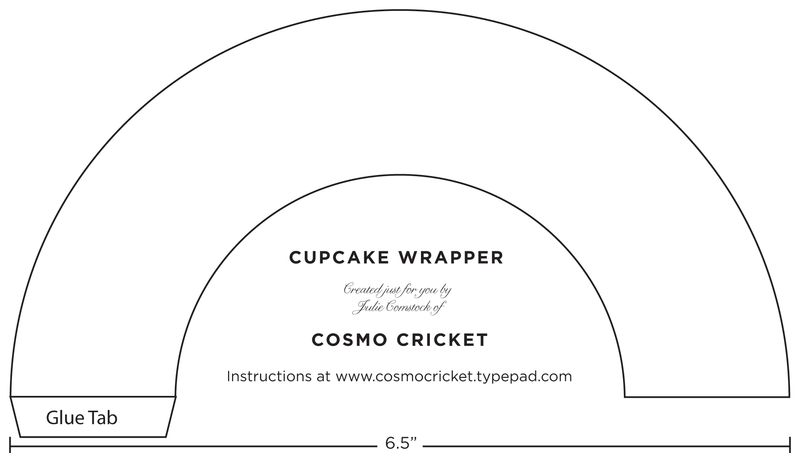 Versatile image for printable cupcake wrapper template