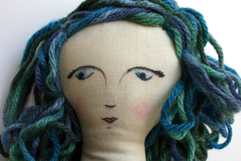 Painted doll face_julie comstock