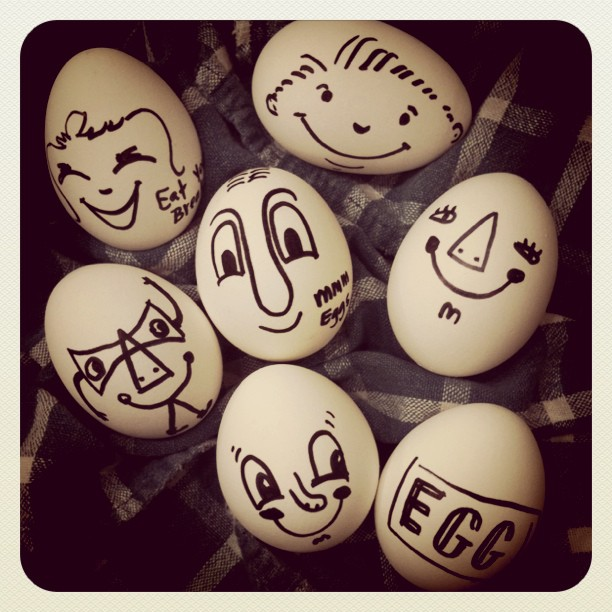 Boiled Egg Face Creative Than Boiled Eggs