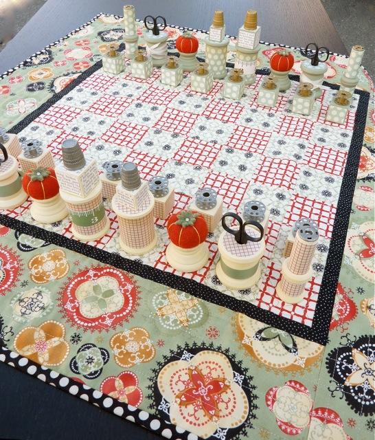 Fabric_handmade_chessboard_checkerboard