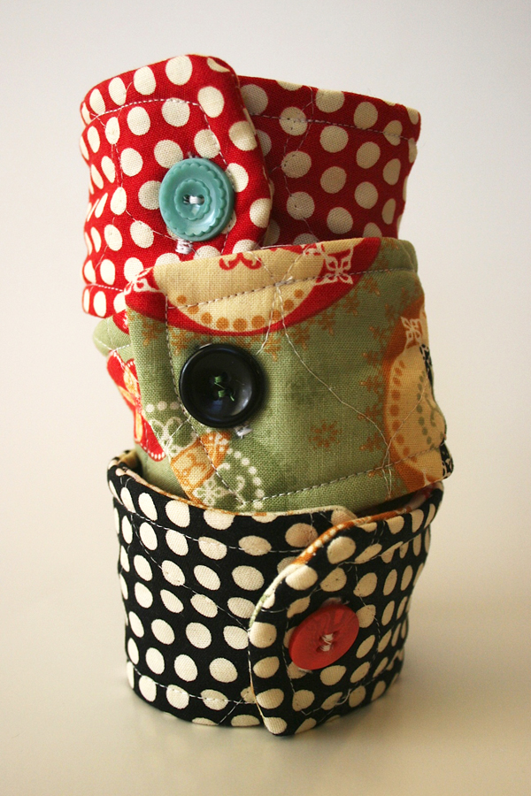 Quilted Coffee Cup Cozy
