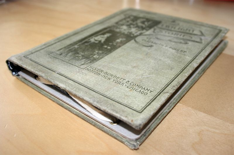 Kindle cover out of old book handmade