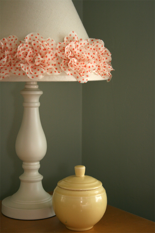 Gluber fabric flower lamp shade craft
