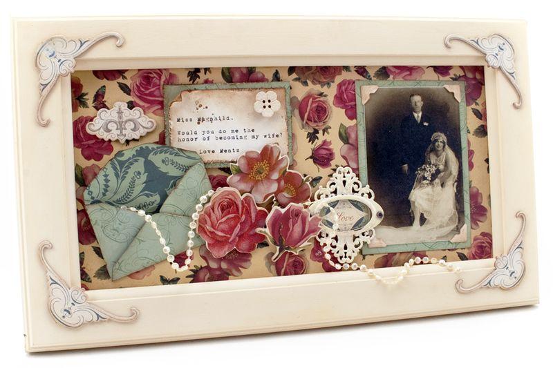 Evangeline framed collage cosmo cricket