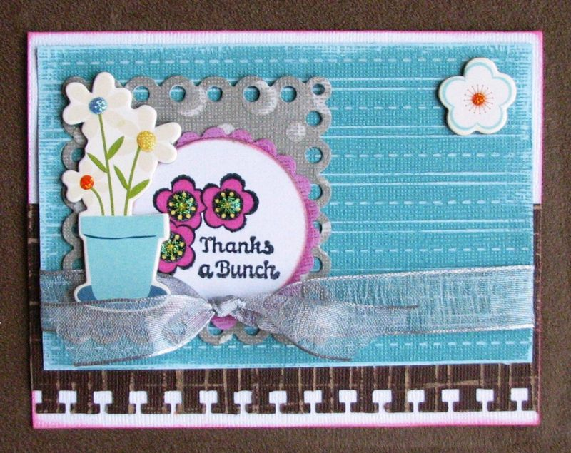 Stamped thank you card