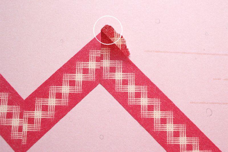 Chevron washi tape tutorial 5