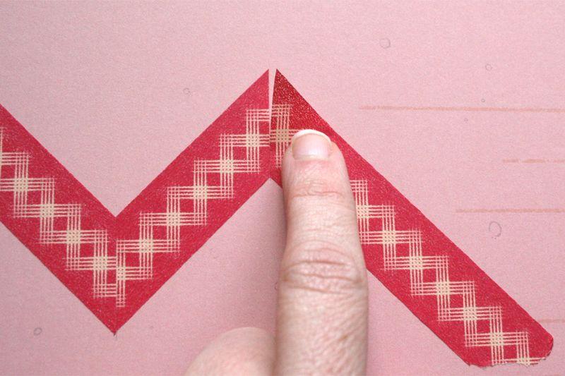 Chevron washi tape tutorial 6
