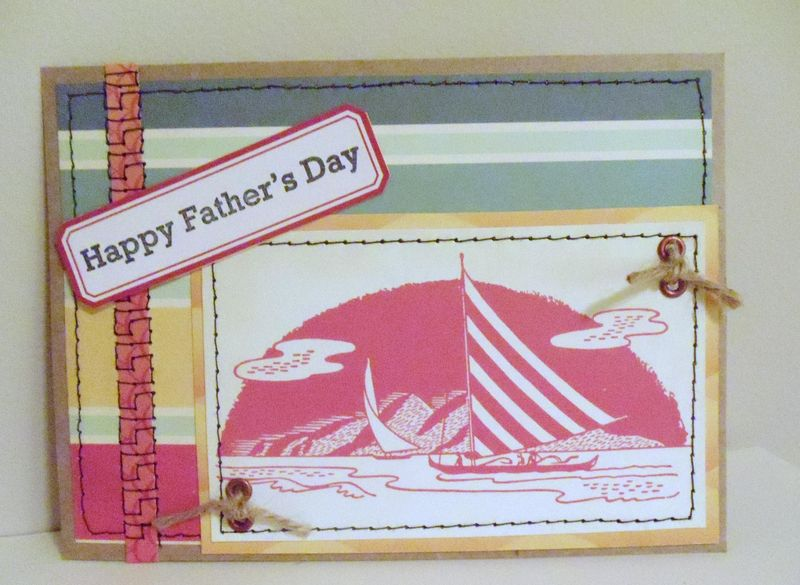 Stitched fathers day card cosmo cricket