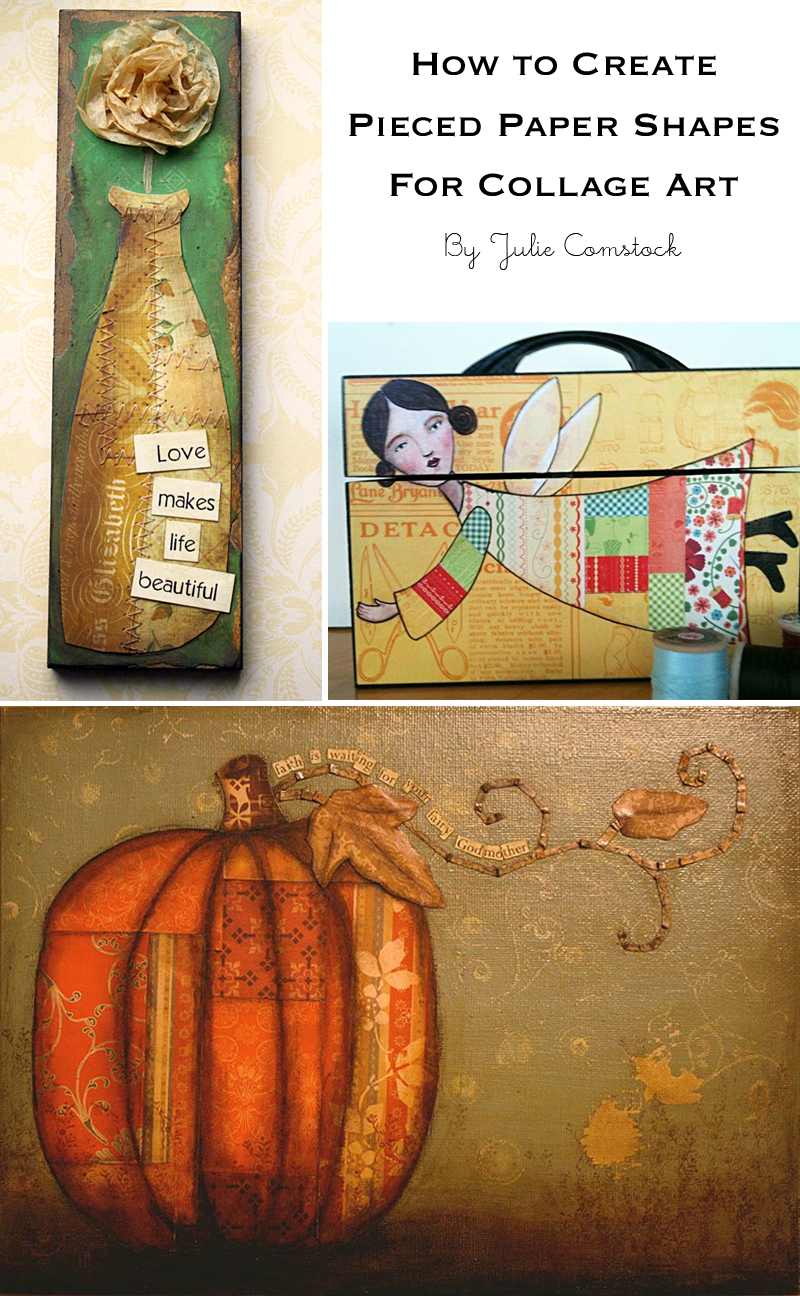 How to create pieced paper collage art
