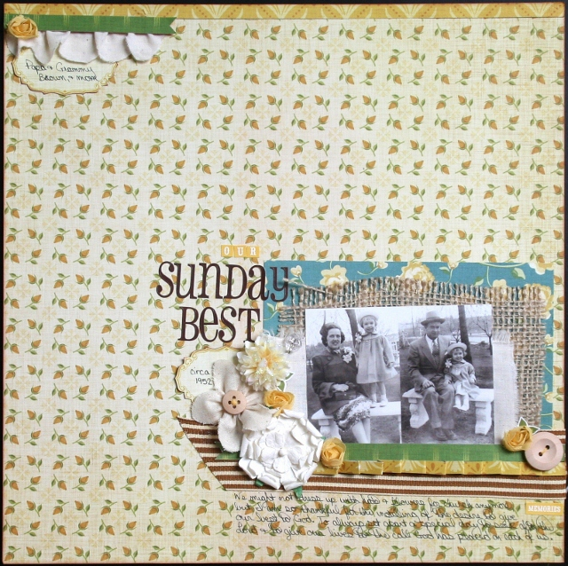 Tea For Two cosmo cricket scrapbook page