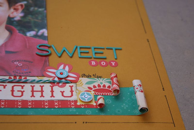 Baby Jane_cosmo cricket_boy_scrapbook pagedetail