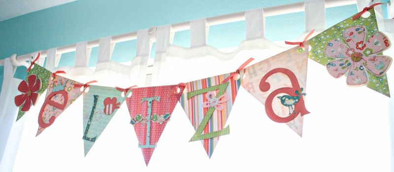 DIY paper window valance banner