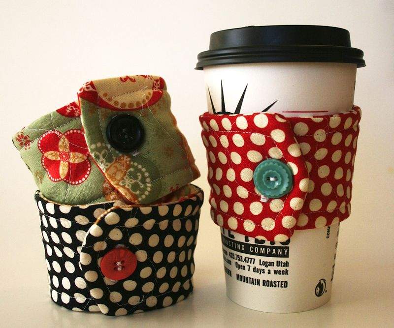 Quilted Cup Cozy pattern