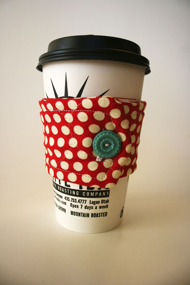 Paper Coffee cup cozy pattern