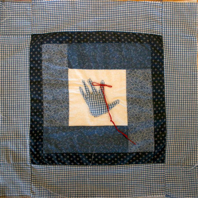Baby handprint_quilt block