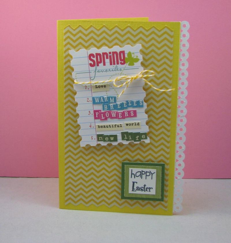 Easter card tiny type