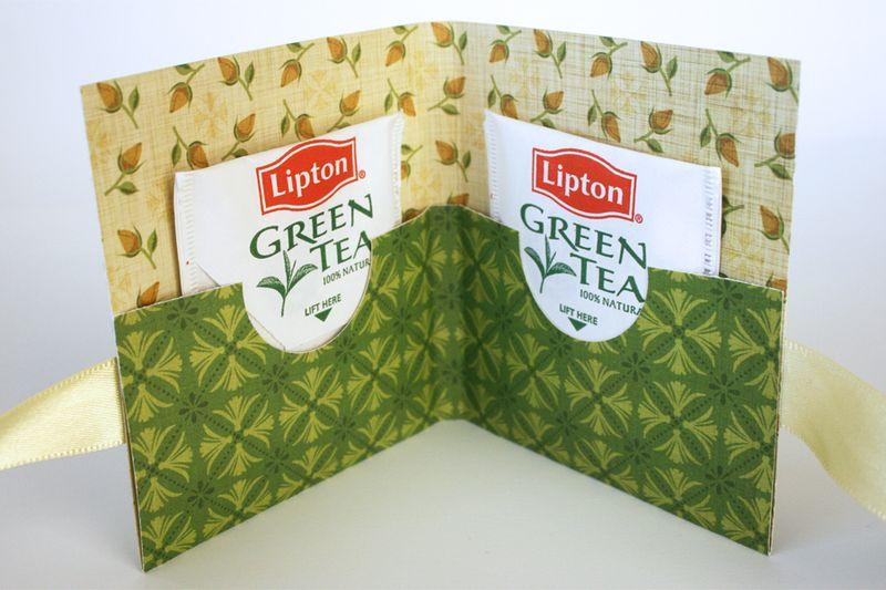 Make a tea bag card container