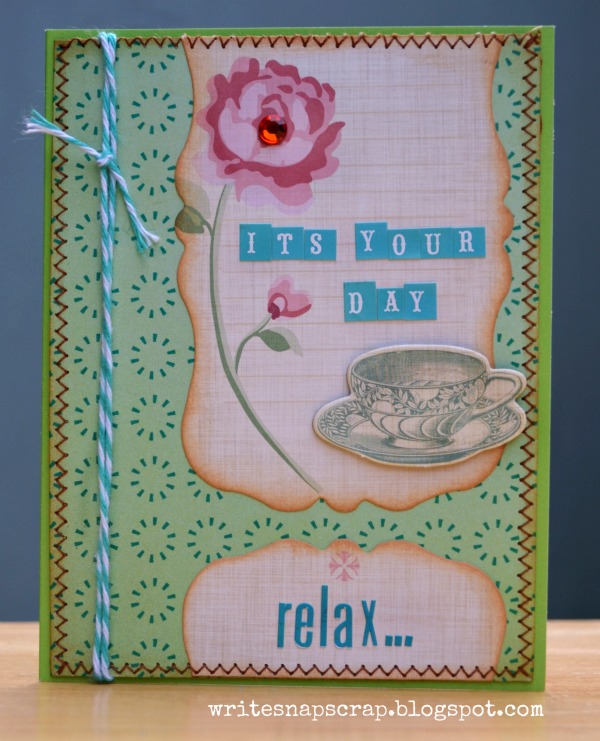 Izzy Anderson tea for two card