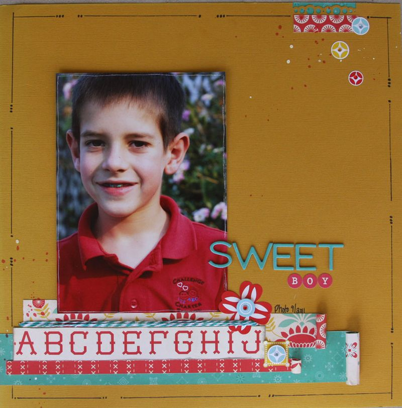 Baby Jane_cosmo cricket_boy_scrapbook page2