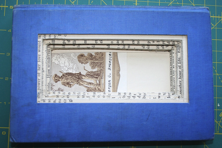 Cutting a book into a frame2