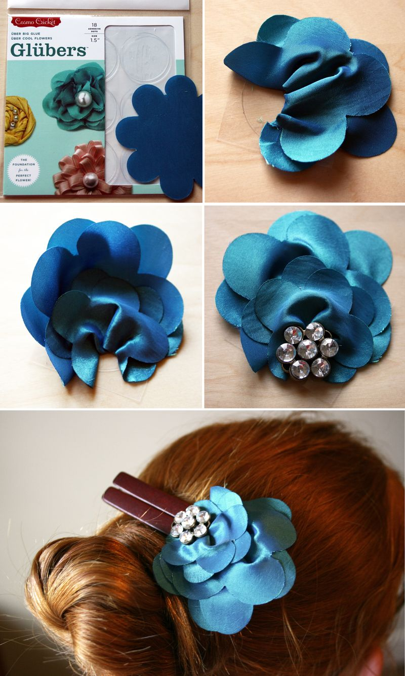 Gluber tutorial DIY Hairclips