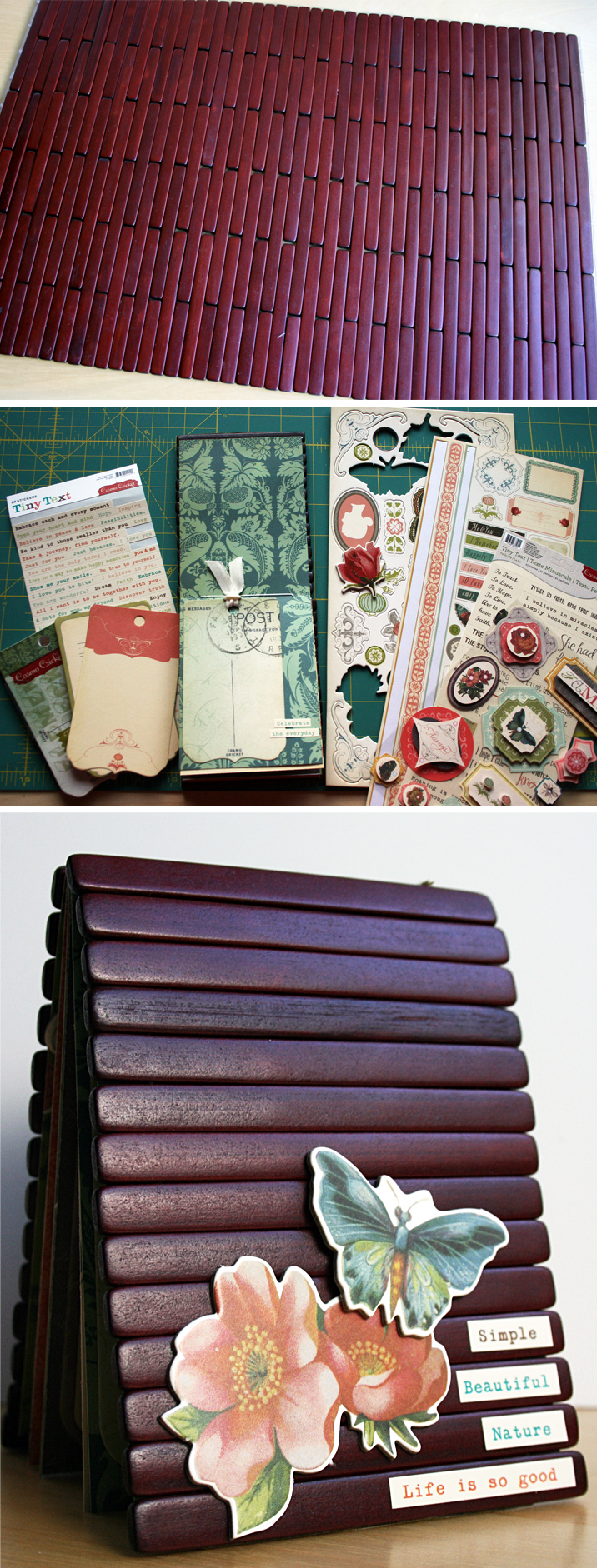 Making a wood covered book DIY