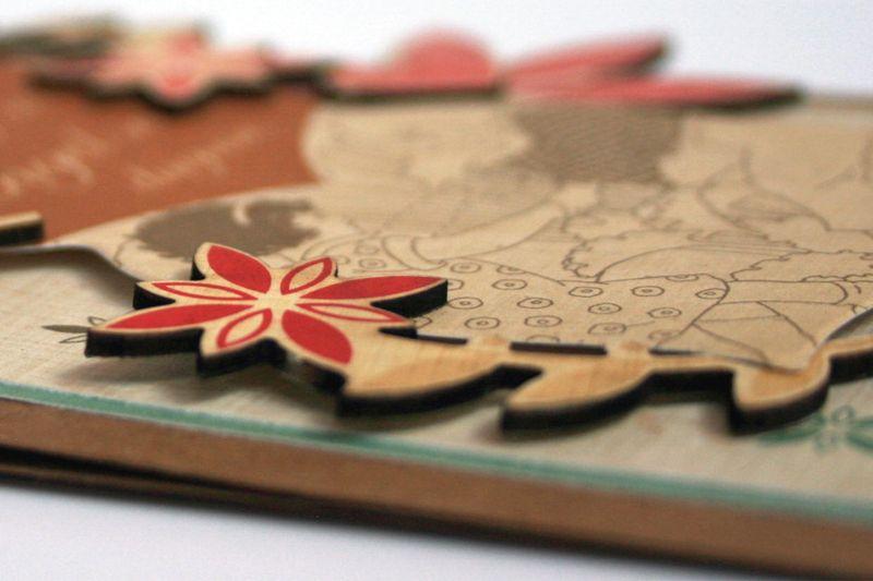 Card making layering detail