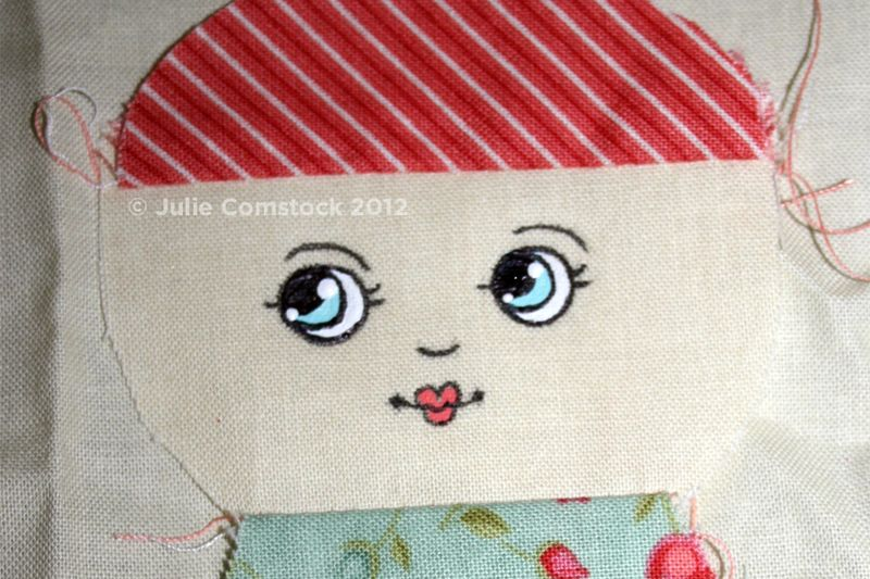 Doll face tutorial by Julie Comstock5