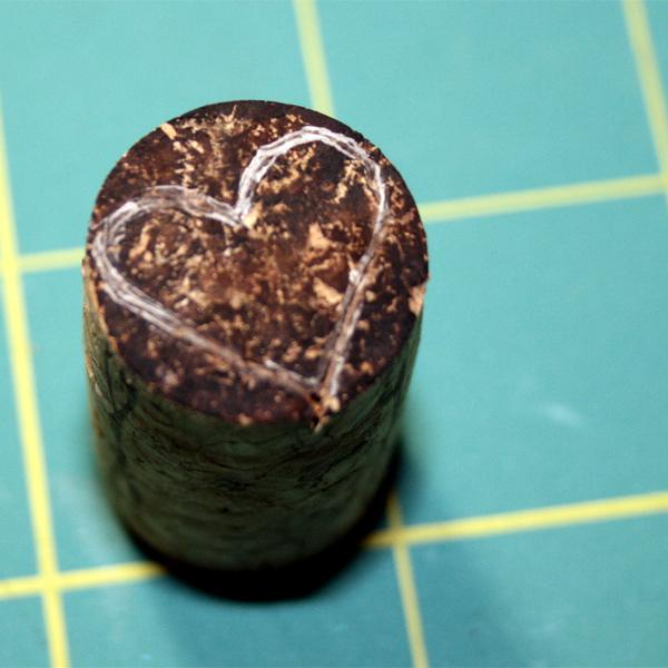 Making a cork stamp