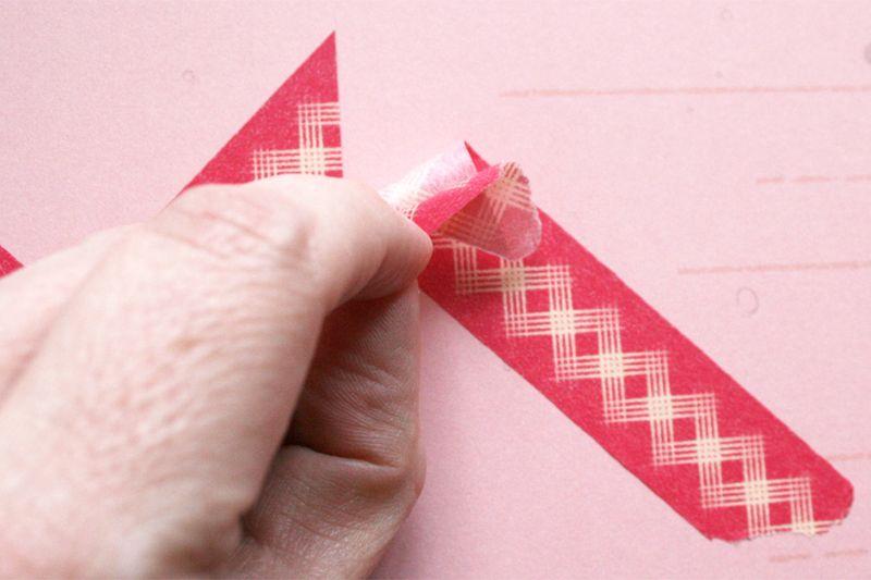 Chevron washi tape tutorial 4