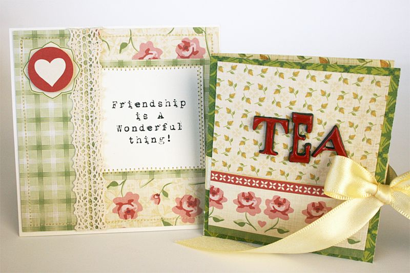 Tea for two cosmo cricket tea bag friend set