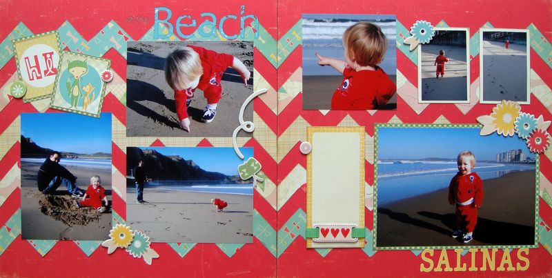 Layout with chevron background_cosmo cricket