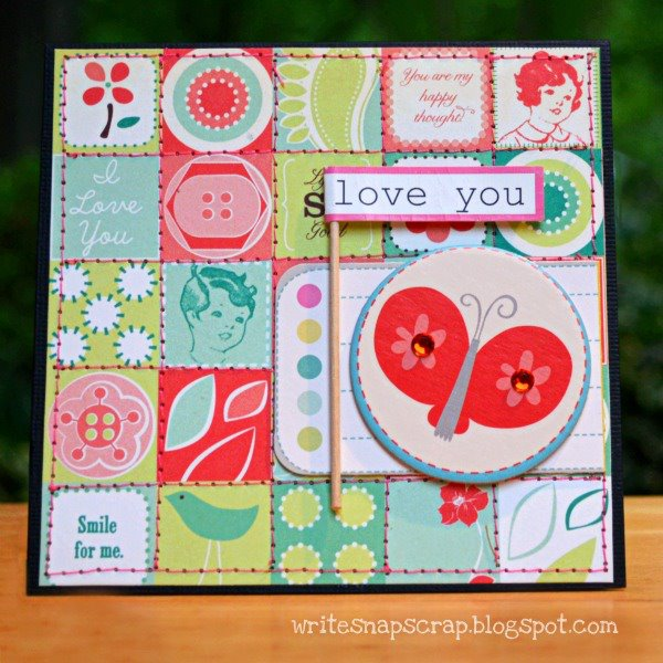 Clementine_card_cosmo cricket sewing on paper