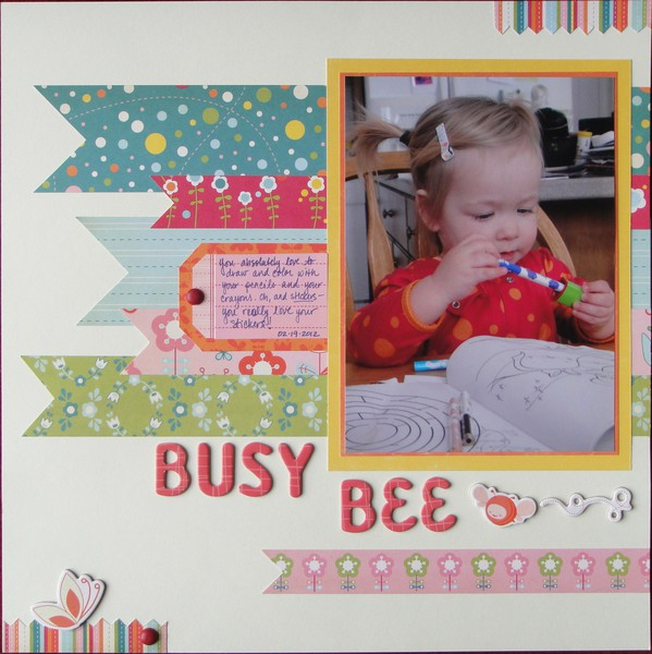 Michelle Duffy_girl scrapbook layout