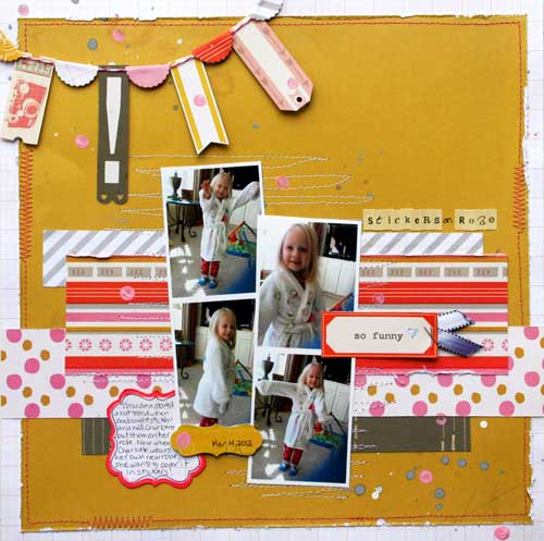 Twenty Three multiple photo scrapbook page2