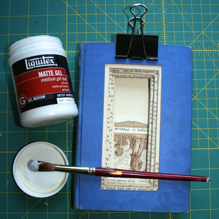 Glueing a book closed DIY frame