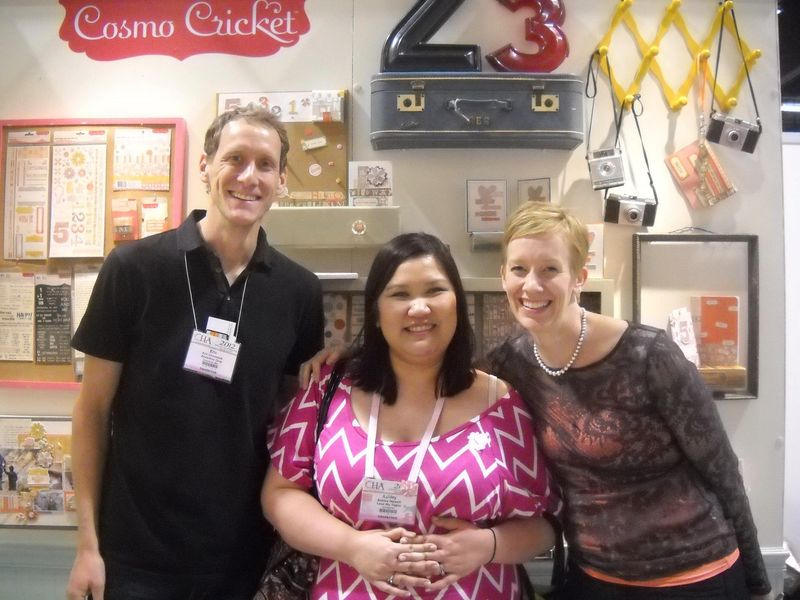 Julie Eric and Ashley_CHA Winter_ Cosmo Cricket Booth