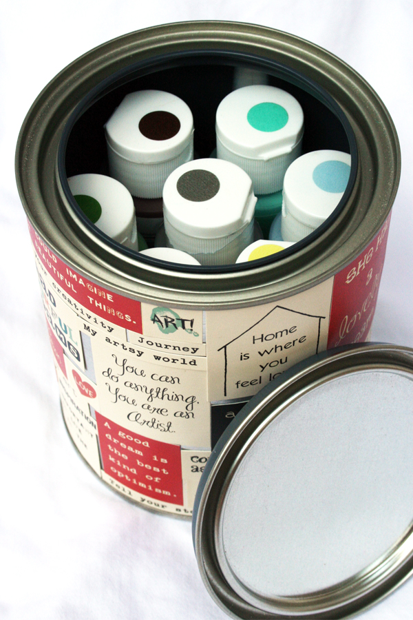 Paint can to artist gift | Cosmo Cricket